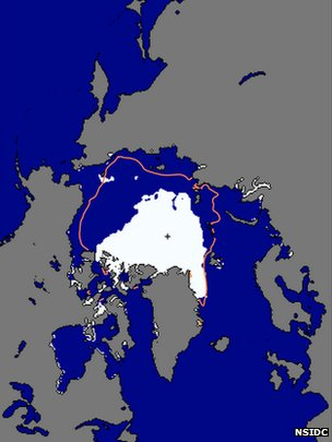 Mapa de deshielo en el Ártico