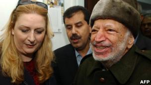 Yasser Arafat dan Suha istrinya