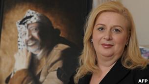 La viuda de Yasser Arafat, Suha