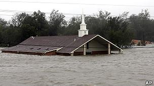 Iglesia inundada en Braithwaite