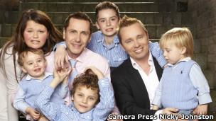 Família Drewitt - Barlow (Foto Nicky Johnston - Camera Press)
