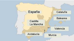 mapa de regiones españolas
