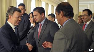 Juan Manuel Santos y sus ministros