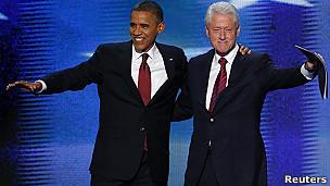 Barack Obama e Bill Clinton/Reuters