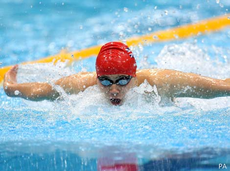 Great Britain's Oliver Hynd races to victory in the Men's 200m individual medley.