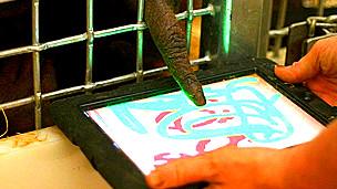 Orangután utlizando una tableta Foto gentileza Orangutan Outreach