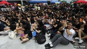Học sinh Hong Kong phản đối giáo dục công dân
