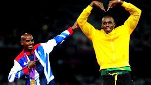 Mo Farah y Usain Bolt