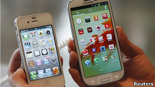 Galaxy S3 y el iPhone 4S