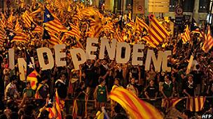 Manifestação separatista em Barcelona (AFP)