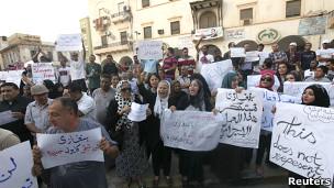 Maandamano ya kupinga wapiganaji mjini Benghazi