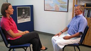 Sarah Rainsford, corresponsal de la BBC en La Habana, y Rodrigo Granda