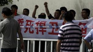 上海抗议者