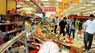 青岛的一家超市