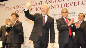 Ông Trọng tại Trường chính sách công Singapore
