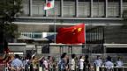 Demonstrators in Beijing