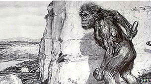 Dibujo de 1909 sobre los Neandertales