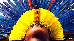 Uso de plumas por indígenas