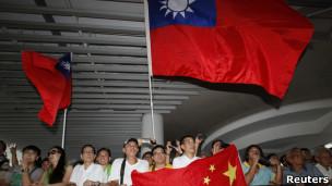 保釣的中國和台灣民眾