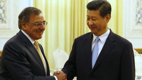 中国国家副主席习近平与美国国防部长帕内塔举行会晤(19/09/2012)