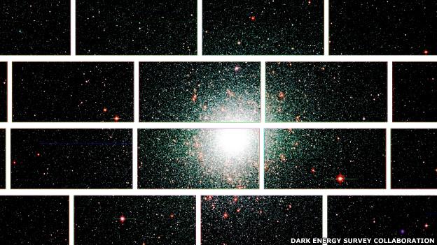 Imagen captada por la Cámara de Energía Oscura de 47 Tucanae, que se encuentra a 17.000 años luz de la Tierra.