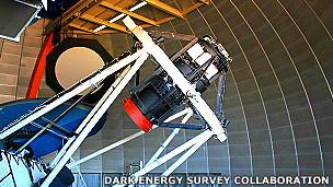 Cámara de Energía Oscura montada en el telescopio Blanco