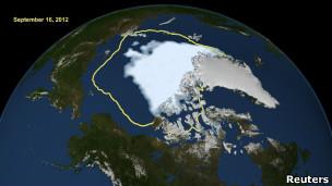 Hielo marino en el Océano Ártico