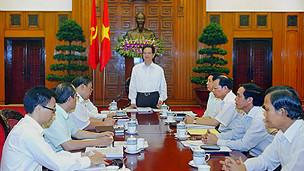 Một phiên họp của nội các Thủ tướng Dũng