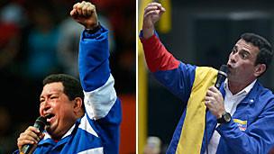Hugo Chávez y Henrique Capriles