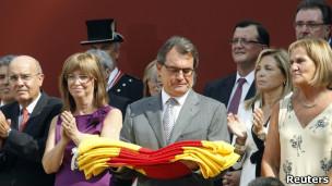 Ceremonia en parlamento catalán