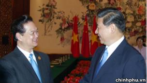 Thủ tướng Nguyễn Tấn Dũng gặp Phó Chủ tịch Trung Quốc Tập Cận Bình