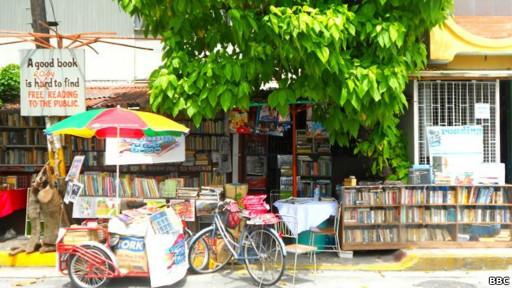 Biblioteca de Guanlao en Manila