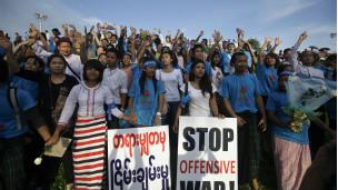 World Peace Day demo