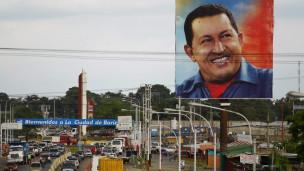Áp phích tranh cử của ông Chavez tại bang Barinas