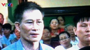 Blogger Điếu Cày tại tòa