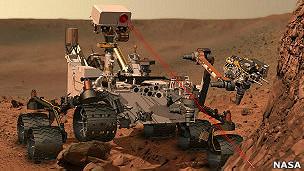 Cauces de agua en Marte