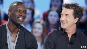Omar Sy e François Cluzet, atores de 'Intocáveis'