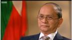 Tổng thống Thein Sein trong một phỏng vấn với BBC
