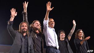 Obama con la banda mexicana Maná