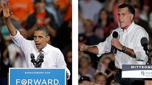 Hai ông Obama và Romney