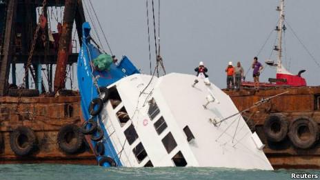 香港南丫岛撞船死亡人数已增至36人(02/10/2012)