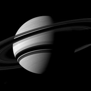Imagem de Saturno registrada pela Cassini (Nasa)