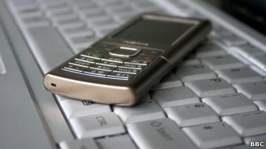 Teclado con un celular