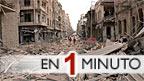 Escombros en el centro de Alepo