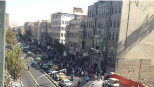 اعتراض در حوالی بازار