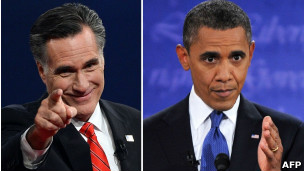 Mitt Romney (izq.) y Barack Obama