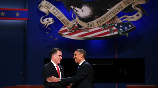 Tổng thống Barack Obama và ứng viên đảng Cộng hòa Mitt Romney