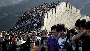 Multitud en muralla china