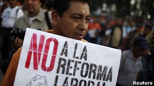 Marcha contra reforma laboral