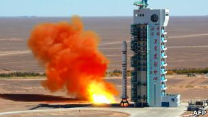 Cohete chino despega del desierto de Gobi